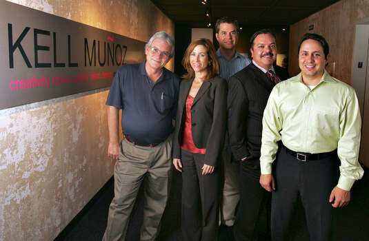 Kell Munoz principals and associates pose Wednesday, August 16, 2006 at their office in the Frost Bank building on Blanco at Loop 410. From left are Jerry Sparks, Claudia Carlos, Geof Edwards, Henry Munoz and Roland Perez. BAHRAM MARK SOBHANI/STAFF Photo: BAHRAM MARK SOBHANI, SAN ANTONIO EXPRESS NEWS / SAN ANTONIO EXPRESS NEWS