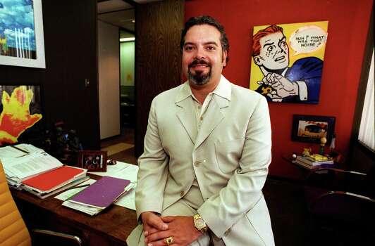 Henry Muñoz at his office in San Antonio on July 5, 1997. Photo: RICK HUNTER, SAN ANTONIO EXPRESS-NEWS / 97-2932