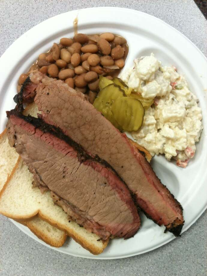 Brisket served for lunch at 2013 Camp Brisket sponsored by Foodways Texas at Texas A&M University. Photo: Greg Morago