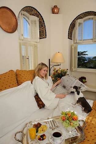 Cypress Inn, the granddaddy of pet-friendly hotels, has hosted plenty of famous guests including Lauren Bacall and Orlando Bloom. Photo: Cypress Inn