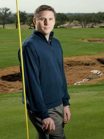 Valero Texas Open tournament director Larson Segerdahl poses on the 18th green, Monday, Jan. 21, 2013, at TPC San Antonio in San Antonio. Photo: Darren Abate, Darren Abate/For The Express-New