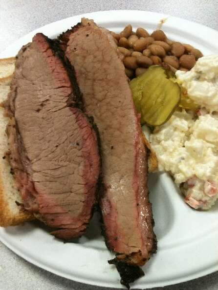 A perfect brisket meal.