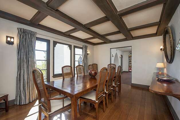The home has oak floors and beamed ceilings.  Photo: Thomas Grubba Photography