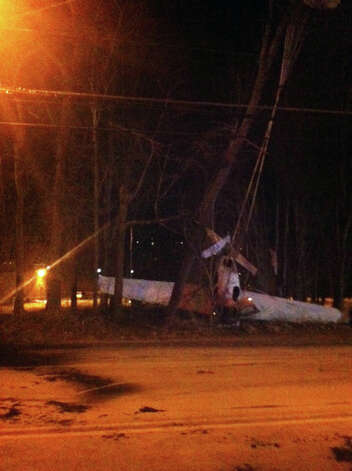 A small plane crashed Tuesday, Jan. 22, 2013, near South Street in Danbury. Photo: John Pirro