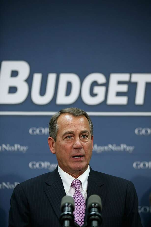 House Speaker John Boehner says the extension offers Congress time to pass a full-fledged budget. Photo: Chip Somodevilla, Getty Images