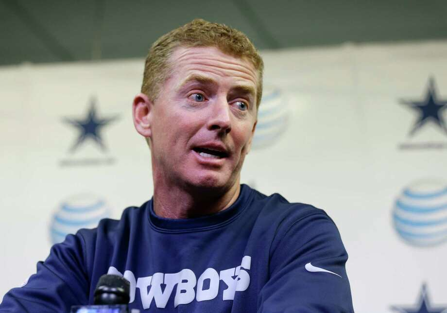 Dallas Cowboys coach Jason Garrett responds to questions during a news conference at the NFL football team's training facility Monday, Dec. 31, 2012, in Irving, Texas. The Cowboys lost to the Washington Redskins 28-18 Sunday night, ending their season. (AP Photo/Tony Gutierrez) Photo: Tony Gutierrez, STF / AP