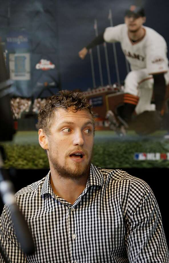 "Hunter Pence promoted ""MLB 13: The Show."" Photo: Brant Ward, The Chronicle"