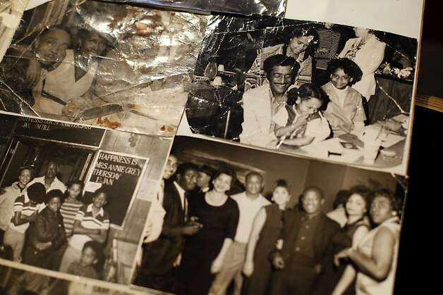 Sam Jordan's Bar has seen many celebrities over the years.  Photos including Sammy Davis Jr., top right, are shown in San Francisco, Calif., Monday, January 21, 2013.  The bar recently obtained landmark status. Photo: Sarah Rice, Special To The Chronicle