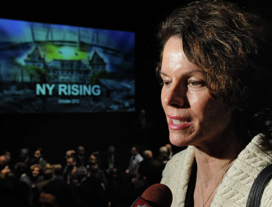 Assembly member Patricia Fahy talks to the press after Governor Andrew Cuomo delivered his budget proposal for fiscal year 2013-14 in the Hart Theater in The Egg on Tuesday Jan. 22, 2013 in Albany, N.Y.  (Lori Van Buren / Times Union) Photo: Lori Van Buren