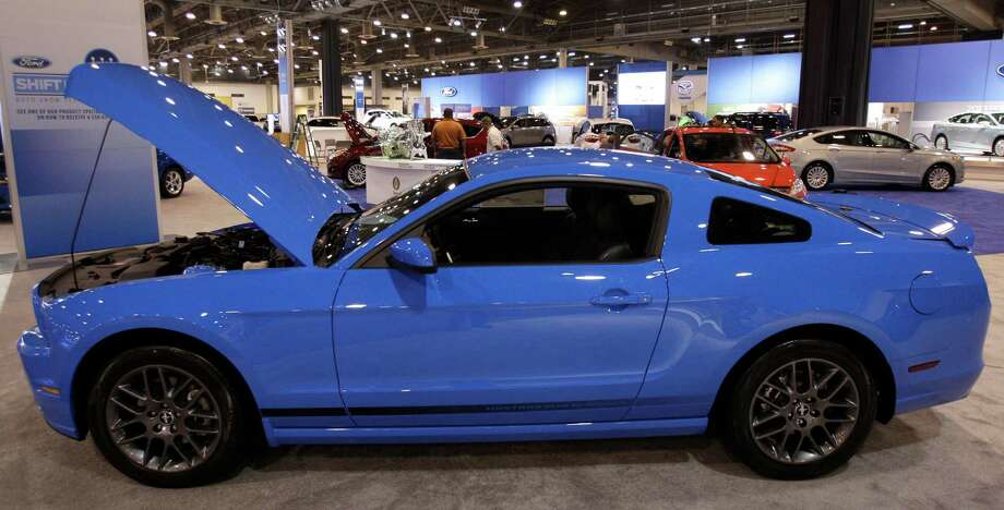 A Ford Mustang shown at the Houston Auto Show in Reliant Center, Tuesday, Jan. 22, 2013, in Houston.  The show runs from Jan. 23 through Jan. 27. Photo: Melissa Phillip, Houston Chronicle / © 2013 Houston Chronicle