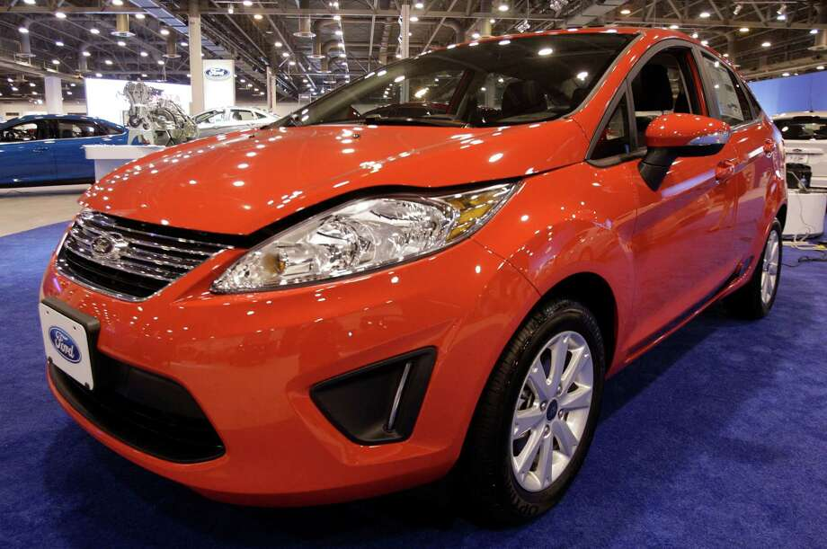 A Ford Fiesta shown at the Houston Auto Show in Reliant Center, Tuesday, Jan. 22, 2013, in Houston.  The show runs from Jan. 23 through Jan. 27. Photo: Melissa Phillip, Houston Chronicle / © 2013 Houston Chronicle