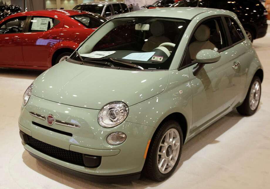A Fiat shown at the Houston Auto Show in Reliant Center, Tuesday, Jan. 22, 2013, in Houston.  The show runs from Jan. 23 through Jan. 27. Photo: Melissa Phillip, Houston Chronicle / © 2013 Houston Chronicle