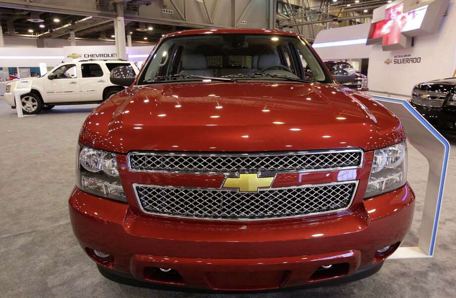A Chevy Surburban shown at the Houston Auto Show in Reliant Center, Tuesday, Jan. 22, 2013, in Houston.  The show runs from Jan. 23 through Jan. 27. Photo: Melissa Phillip, Houston Chronicle / © 2013 Houston Chronicle
