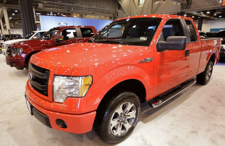 A Ford F-150 shown at the Houston Auto Show in Reliant Center, Tuesday, Jan. 22, 2013, in Houston.