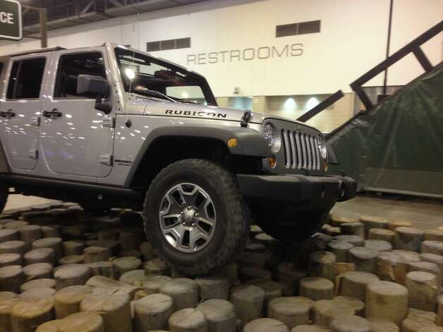 The Houston Auto Show also features the Camp Jeep exhibit. The 25,000-square-foot exhibit allows visitors to test out a new Jeep. Photo: Dan X. McGraw