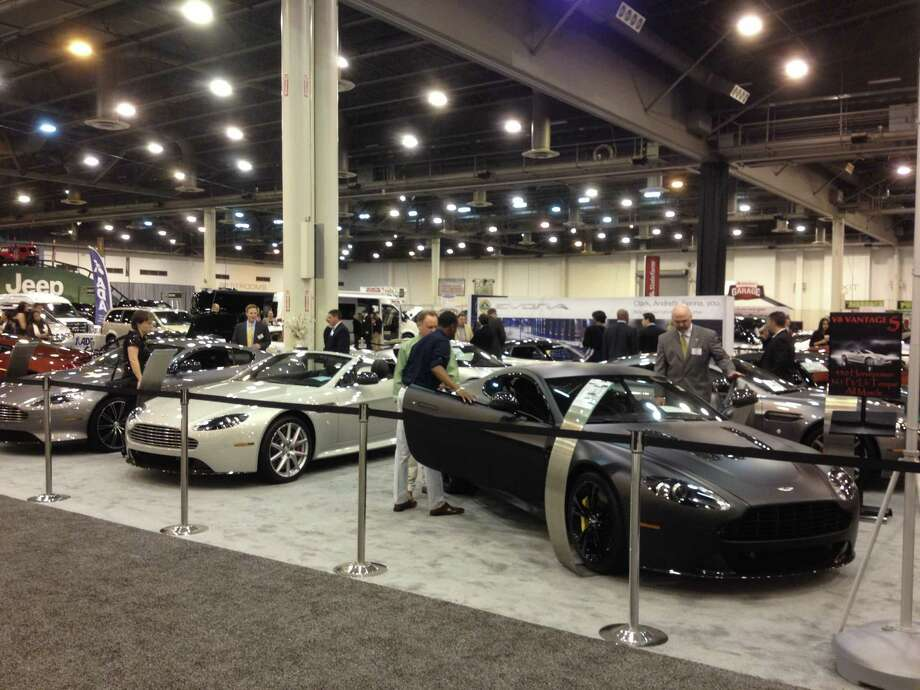 The auto show gives visitors plenty of opportunities to check out six-figure cars. Photo: Dan X. McGraw