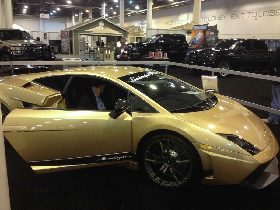 Lamborghini also brought its Gallardo LP 570-4 Superleggera to the Houston Auto Show. Photo: Dan X. McGraw