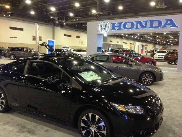 The newly designed Honda Civic sits on the auto show floor. Photo: Dan X. McGraw