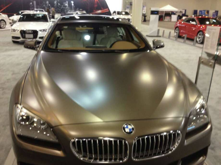 A few cars, including this BMW, ditched the clear coat for a matte finish. Photo: Dan X. McGraw