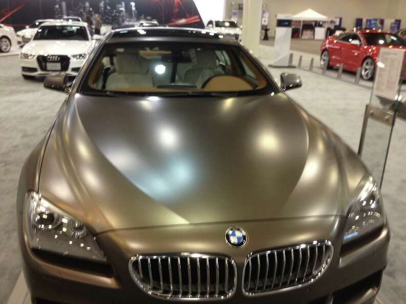 A few cars, including this BMW, ditched the clear coat for a matte finish.