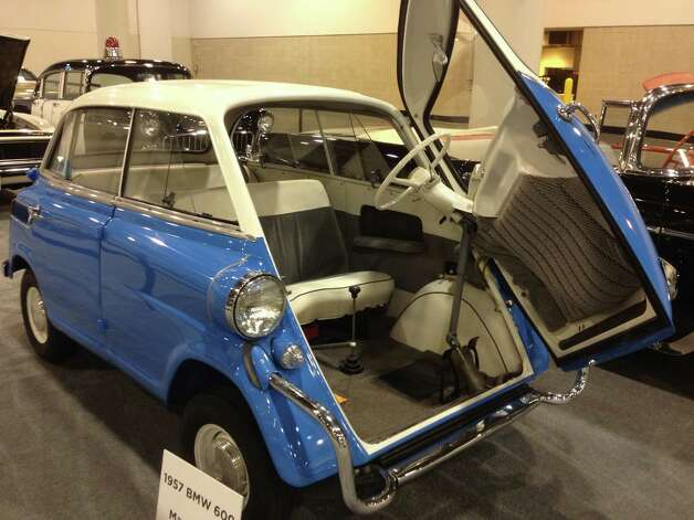 A 1957 BMW 600 is one of a handful of classic cars being shown at the auto show. Photo: Dan X. McGraw