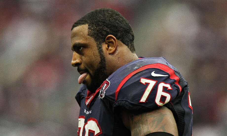 2013Left tackle Duane Brown was selected as a starter to his first Pro Bowl. Photo: Nick De La Torre, Houston Chronicle / © 2012  Houston Chronicle