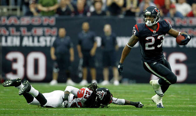 2012Running back Arian Foster was voted to the Pro Bowl for the second consecutive season. He withdrew from the game because of injury. Photo: Karen Warren, Houston Chronicle / © 2011 Houston Chronicle