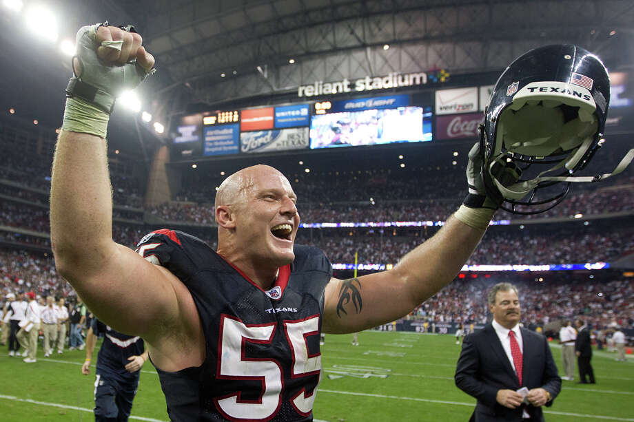 2012Center Chris Myers became the first Texans lineman ever named to the Pro Bowl roster. He was added as an alternate. Photo: Smiley N. Pool, Houston Chronicle / © 2012  Houston Chronicle