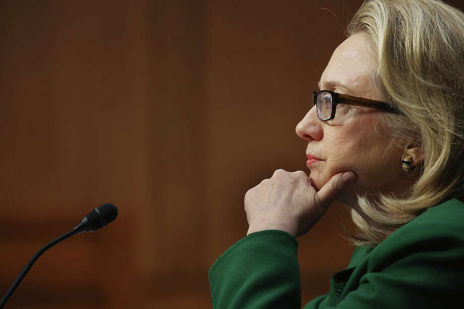 Secretary of State Hillary Clinton testifies on the Benghazi attack in January before the Senate Foreign Relations Committee. Photo: Chip Somodevilla, Getty Images / 2013 Getty Images