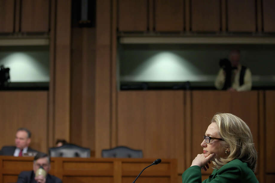 U.S. Secretary of State Hillary Clinton testifies before the Senate Foreign Relations Committee on Capitol Hill January 23, 2013 in Washington, DC. Lawmakers questioned Clinton about the security failures during the September 11 attacks against the U.S. mission in Benghazi, Libya, that led to the death of four Americans, including U.S. Ambassador Christopher Stevens. Photo: Chip Somodevilla, Getty Images / 2013 Getty Images