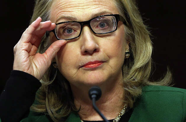 U.S. Secretary of State Hillary Clinton testifies before the Senate Foreign Relations Committee on Capitol Hill January 23, 2013 in Washington, DC. Lawmakers questioned Clinton about the security failures during the September 11 attacks against the U.S. mission in Benghazi, Libya, that led to the death of four Americans, including U.S. Ambassador Christopher Stevens. Photo: Alex Wong, Getty Images / 2013 Getty Images
