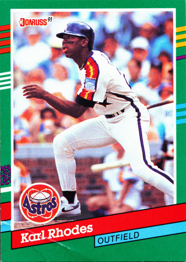 Rhodes was drafted by the Astros in the third round of the 1986 amateur draft. He spent parts of four season with the club. / handout