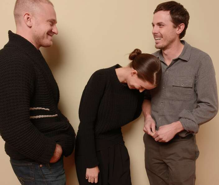 (L-R) Actors Ben Foster, Rooney Mara and Casey Affleck from Ain't Them Bodies Saints pose for a port