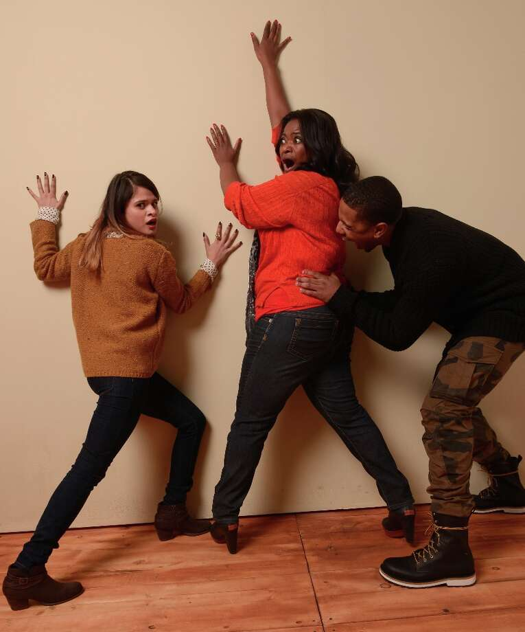 (L-R) Actors Melonie Diaz, Octavia Spencer and Michael B. Jordan from Fruitvale pose for a portrait during the 2013 Sundance Film Festival at the Getty Images Portrait Studio at Village at the Lift on January 19, 2013 in Park City, Utah. Photo: Larry Busacca, Getty Images / 2013 Getty Images