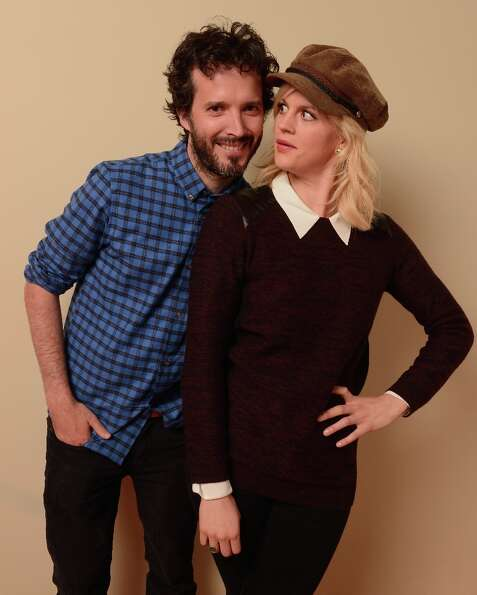 (L-R) Actors Bret McKenzie and Georgia King from Austenland pose for a portrait during the 2013 Sund