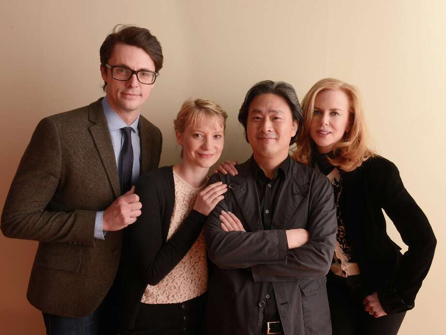 (L-R) Actors Matthew Goode and Mia Wasikowska, director Park Chan-Wook and actress Nicole Kidman from the film Stoker pose for a portrait during the 2013 Sundance Film Festival at the Getty Images Portrait Studio at Village at the Lift on January 21, 2013 in Park City, Utah. Photo: Larry Busacca, Getty Images / 2013 Getty Images