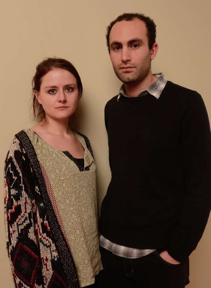 Filmmaker Cressida Trew (L) and actor Khalid Abdalla from the film The Square pose for a portrait during the 2013 Sundance Film Festival at the Getty Images Portrait Studio at Village at the Lift on January 21, 2013 in Park City, Utah. Photo: Larry Busacca, Getty Images / 2013 Getty Images
