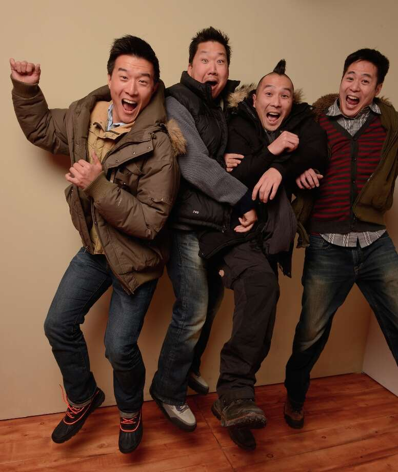 (L-R) Producers  Brian Yang, Christopher Chen, director Evan Jackson Leong and producer Allen Lu from the film Linsanity pose for a portrait during the 2013 Sundance Film Festival at the Getty Images Portrait Studio at Village at the Lift on January 21, 2013 in Park City, Utah. Photo: Larry Busacca, Getty Images / 2013 Getty Images