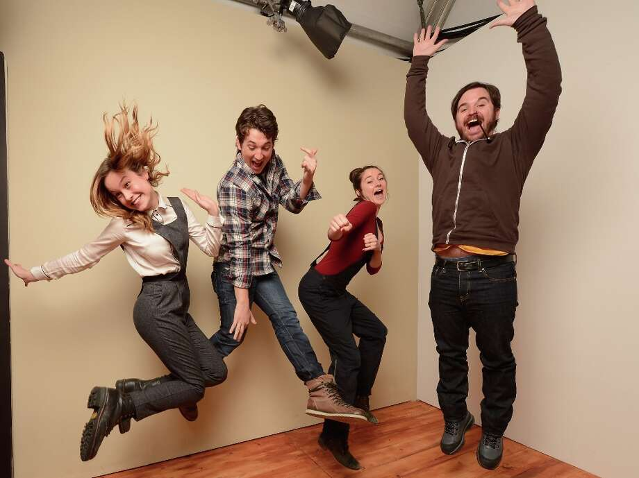 (L-R) Actors Brie Larson, Miles Teller, Shailene Woodley and director James Ponsoldt from The Spectacular Now pose for a portrait during the 2013 Sundance Film Festival at the Getty Images Portrait Studio at Village at the Lift on January 18, 2013 in Park City, Utah. Photo: Larry Busacca, Getty Images / 2013 Getty Images