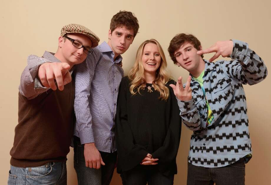 (L-R) Actors Paulie Litt, David Lambert, Kristen Bell and Alex Shaffer from The Lifeguard pose for a portrait during the 2013 Sundance Film Festival at the Getty Images Portrait Studio at Village at the Lift on January 20, 2013 in Park City, Utah. Photo: Larry Busacca, Getty Images / 2013 Getty Images
