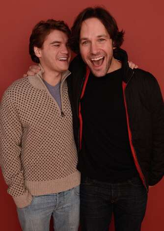 Actors Paul Rudd (R) and Emile Hirsch from the film Prince Avalanche pose for a portrait during the 2013 Sundance Film Festival at the Getty Images Portrait Studio at Village at the Lift on January 20, 2013 in Park City, Utah. Photo: Larry Busacca, Getty Images / 2013 Getty Images
