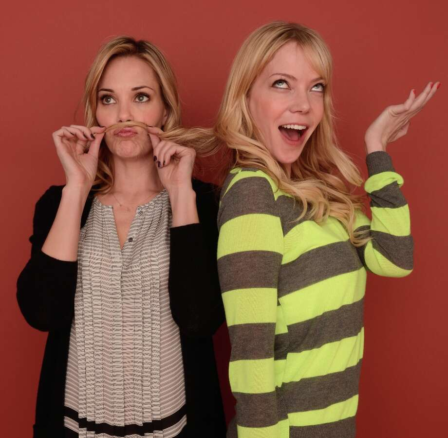Actors Leslie Bibb (L) and Riki Lindhome from Hell Baby pose for a portrait during the 2013 Sundance Film Festival at the Getty Images Portrait Studio at Village at the Lift on January 21, 2013 in Park City, Utah. Photo: Larry Busacca, Getty Images / 2013 Getty Images