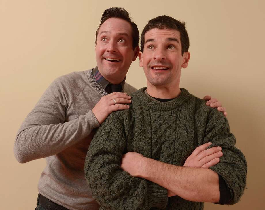 Actors Thomas Lennon (L) and Robert Ben Garant from Hell Baby pose for a portrait during the 2013 Sundance Film Festival at the Getty Images Portrait Studio at Village at the Lift on January 21, 2013 in Park City, Utah. Photo: Larry Busacca, Getty Images / 2013 Getty Images