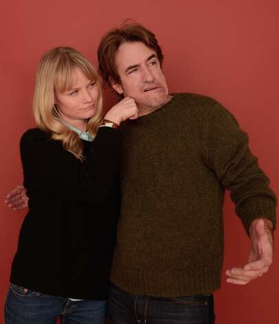 Actors Lindsay Pulsipher and Dermot Mulroney from the film The Rambler pose for a portrait during the 2013 Sundance Film Festival at the Getty Images Portrait Studio at Village at the Lift on January 21, 2013 in Park City, Utah. Photo: Larry Busacca, Getty Images / 2013 Getty Images