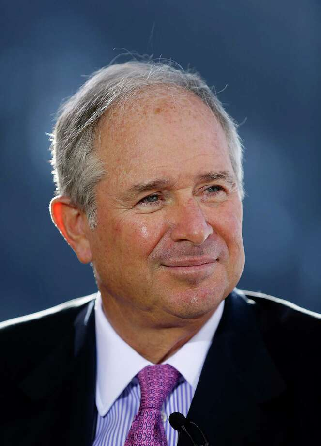Stephen Schwarzman, chairman and chief executive officer of Blackstone Group LP, pauses during a Bloomberg Television interview on the opening day of the World Economic Forum (WEF) in Davos, Switzerland, on Wednesday, Jan. 23, 2013. World leaders, Influential executives, bankers and policy makers attend the 43rd annual meeting of the World Economic Forum in Davos, the five day event runs from Jan. 23-27. Photographer: Simon Dawson/Bloomberg *** Local Caption *** Stephen Schwarzman Photo: Simon Dawson, Bloomberg / Copyright 2013 Bloomberg Finance LP, All Rights Reserved.
