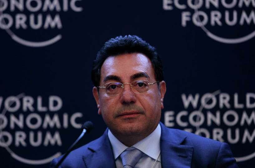 Samir Brikho, chief executive officer of Amec Plc, pauses during a forum session on the opening day