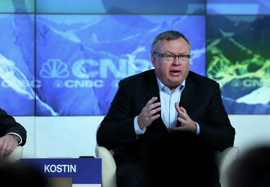 Andrei Kostin, chief executive officer of VTB Group, speaks during a forum session on the opening day of the World Economic Forum (WEF) in Davos, Switzerland, on Wednesday, Jan. 23, 2013. World leaders, Influential executives, bankers and policy makers attend the 43rd annual meeting of the World Economic Forum in Davos, the five day event runs from Jan. 23-27. Photographer: Chris Ratcliffe/Bloomberg *** Local Caption *** Andrei Kostin Photo: Chris Ratcliffe, Bloomberg / Copyright 2013 Bloomberg Finance LP, All Rights Reserved.