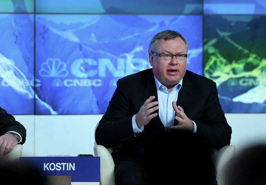 Andrei Kostin, chief executive officer of VTB Group, speaks during a forum session on the opening da