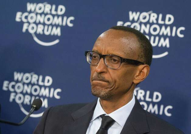 Rwanda's President, Paul Kagame, reacts during a press conference at the 43rd Annual Meeting of the World Economic Forum, WEF, in Davos, Switzerland, Wednesday, Jan. 23, 2013. (AP Photo/Michel Euler) Photo: Michel Euler, Associated Press / AP