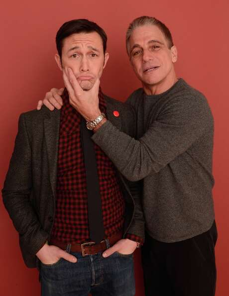 (L-R) Actor/filmmaker Joseph Gordon-Levitt and actor Tony Danza from the film Don Jon's Addiction po
